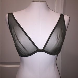 Victoria's Secret Intimates & Sleepwear - Victoria Secret 26B green sheer bra